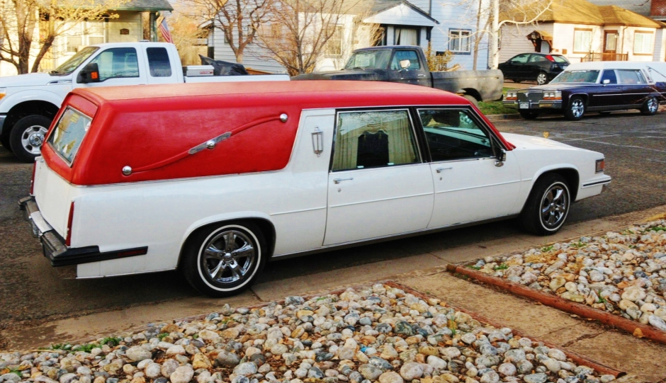 Red top hearse
