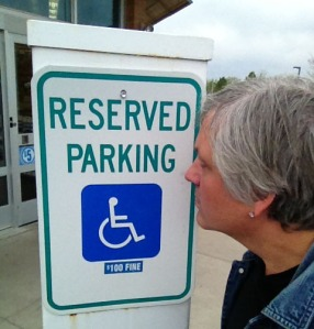 JM Handicapped sign