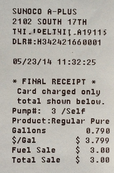 Seeing A World In Someone's Gas Receipt – Da luxe