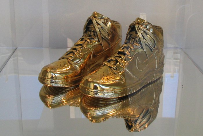 Nike Gold Sneakers