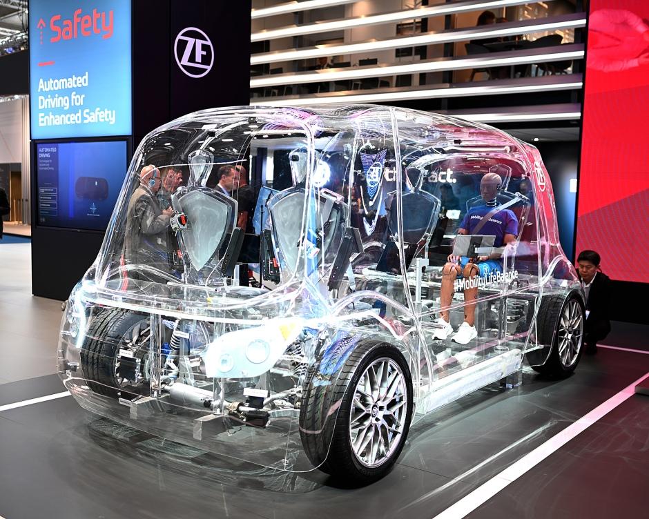 ZF's fiberglass car